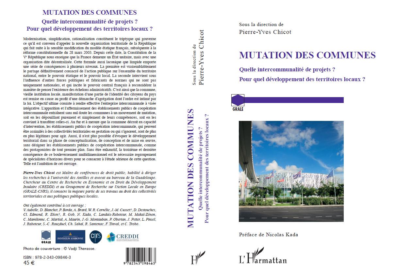 mutation des communes - Collection GRALE, l'Harmattan, 2016